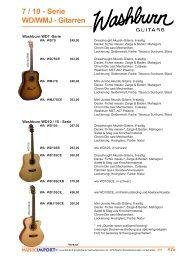 7 / 10 - Serie WD/WMJ - Gitarren