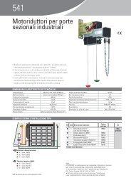 Motoriduttori per porte sezionali industriali - Faac