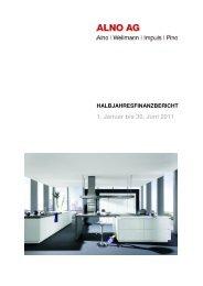 Halbjahresfinanzbericht ALNO Konzern 2011