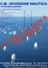 2. Ancoraggio / Ormeggio / Parabordi - Fimbari.It