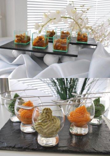 Verrines de mousse de légumes / Champignons aux légumes