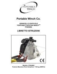 Portable Winch Co. VERRICELLO PORTATILE - bei PORTABLE ...