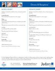Dinners & Receptions* - Radisson Blu