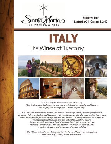 Letter Size Brochure - Santa Maria Vineyard & Winery