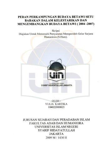 YULIA KARTIKA-FAH.pdf - Institutional Repository UIN Syarif ...