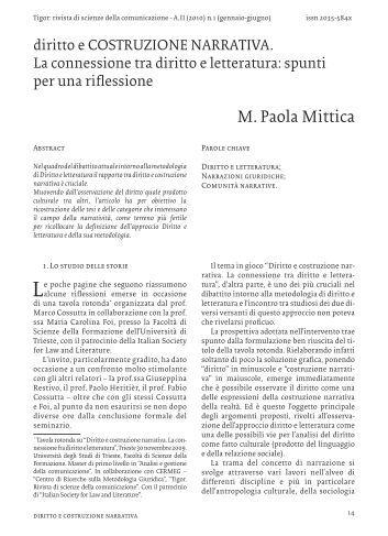 diritto e COSTRUZIONE NARRATIVA. - OpenstarTs - Università ...