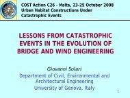 G. Solari, Lessons from catastrophic events in the evolution of bridge ...