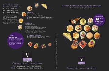 Carte cocktail saveurs automne/hiver - Vatel Gourmet