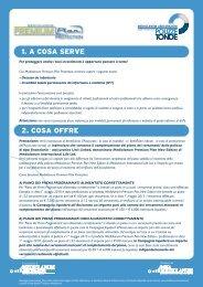 1. A COSA SERVE 2. COSA OFFRE - Mediolanum Assicurazioni