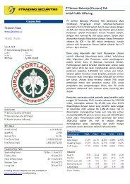 PT Semen Baturaja (Persero) Tbk Initial Public Offering