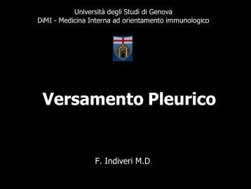 6° Versamenti pleurici - Facoltà di Medicina e Chirurgia - Università ...