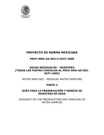 PROY-NMX-AA-003/2-SCFI-2008