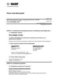 Karta charakterystyki - BASF Polska
