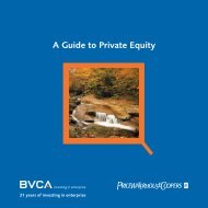 A Guide to Private Equity from the BVCA - Bplans.co.uk
