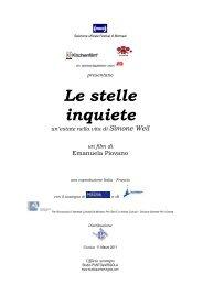 Scarica il pressbook del film 'Le stelle inquiete' - Cineteca di Bologna