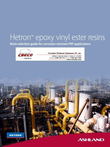 Hetron™ epoxy vinyl ester resins - CRECO, Inc.
