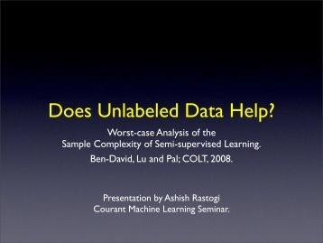 Does Unlabeled Data Help? - Nyu