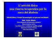 Attività fisica e terapia farmacologica nel giovane diabetico