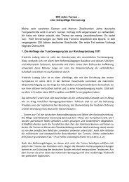 200 Jahre Turnen - TV Bochum-Brenschede
