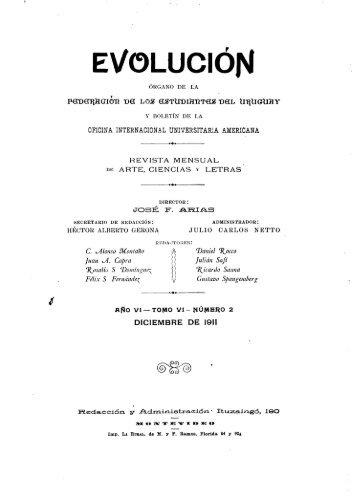 EVOLUCIÓN - Publicaciones Periódicas del Uruguay