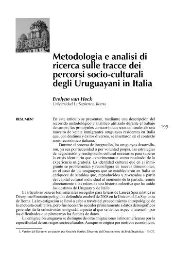 Metodologia e analisi di ricerca sulle tracce dei percorsi ... - Unesco