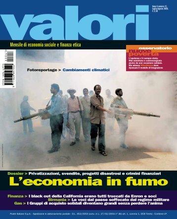 L'economia in fumo - Valori