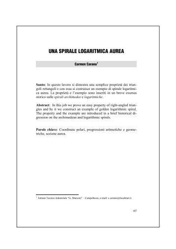una spirale logaritmica aurea - Mathesis