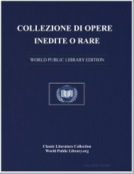 COLLEZIONE DI OPERE INEDITE O RARE - World eBook Library