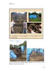 Fig. VI. 45: Restauración en trinchera antigua: Izquierda- Durante el ...