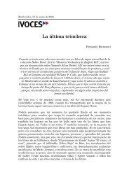 LA ÚLTIMA TRINCHERA - Fernando Butazzoni