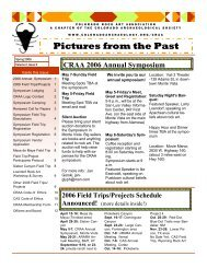 Pictures from the Past - Colorado Rock Art Association