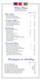 White Wines Champagne & Sparkling - East Bay Grille