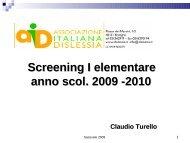 Screening prima primaria