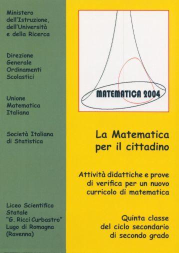 Matematica 2004 - Marchi - Forti