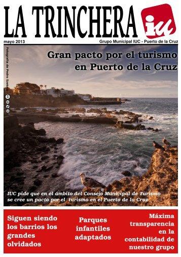Trinchera mayo 2013 - Izquierda Unida Puerto de la Cruz