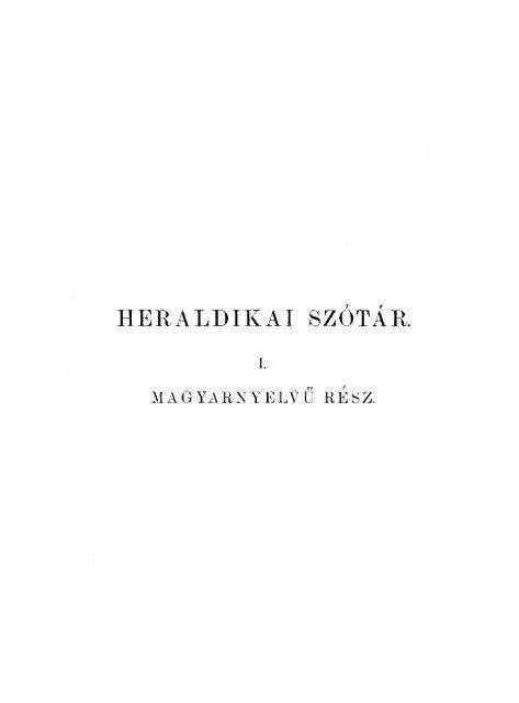 Heraldikai szótár - MEK