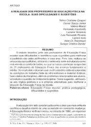 ARTIGO A REALIDADE DOS PROFESSORES DE EDUCAÇAO F ...