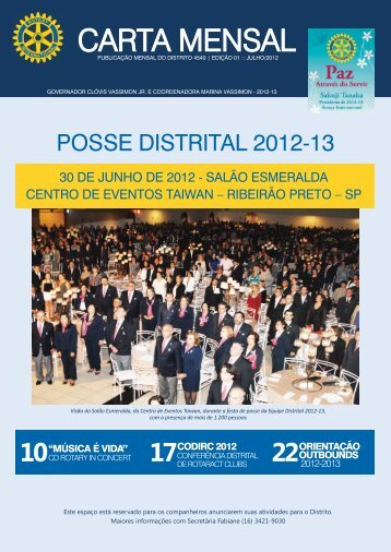 Carta Mensal 01 - Julho 2012 - Distrito 4540