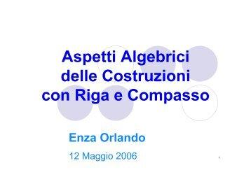 Aspetti Algebrici delle Costruzioni con Riga e Compasso - Smaug