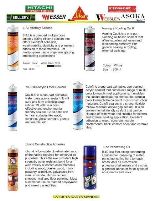 Chemical Marine Lump - Cipta Karya Mandiri