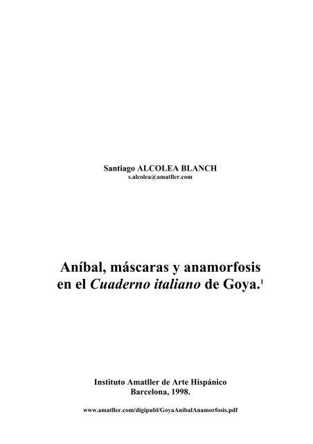 Aníbal, máscaras y anamorfosis en el Cuaderno italiano de Goya.1
