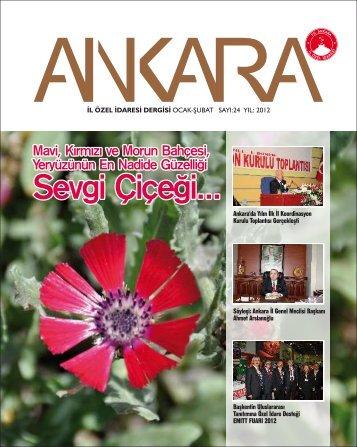 sayı 24 ocak-şubat 2012 - Ankara İl Özel İdaresi