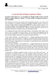 Le auto elettriche di Reggio conquistano Milano - Comune di ...
