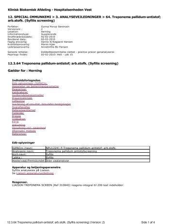 Klinisk Biokemisk Afdeling - Hospitalsenheden Vest 12 ... - e-Dok