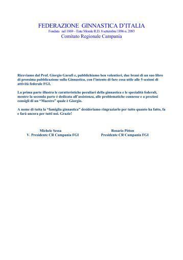 ginnastica artistica - Comitato Regionale Campania F.G.I.