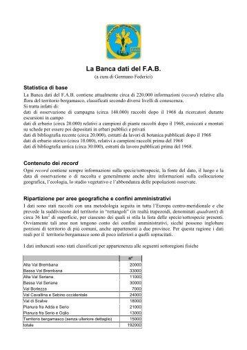 scarica in formato pdf - Gruppo Flora Alpina Bergamasca