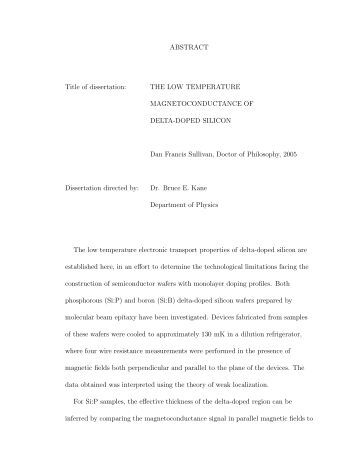 Dissertation on abstinence