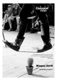 Dossier de présentation - Association Galapiat Cirque