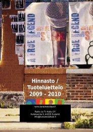 Hinnasto / Tuoteluettelo 2009 - 2010 - Karaokelaitteet.fi