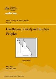Gkuthaarn, Kukatj and Kurtijar Peoples - National Native Title Tribunal